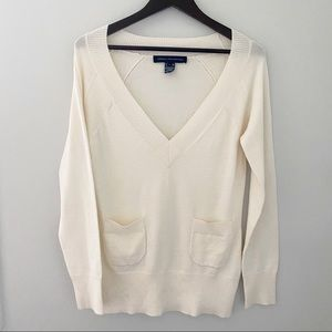 French Connection Knit Vneckline Sweater - L